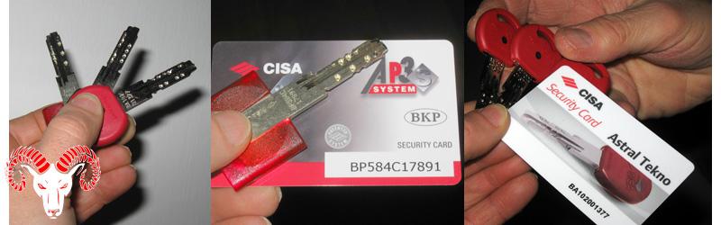 Duplicazione chiavi di sicurezza Cisa per cilindri e serrature blindate