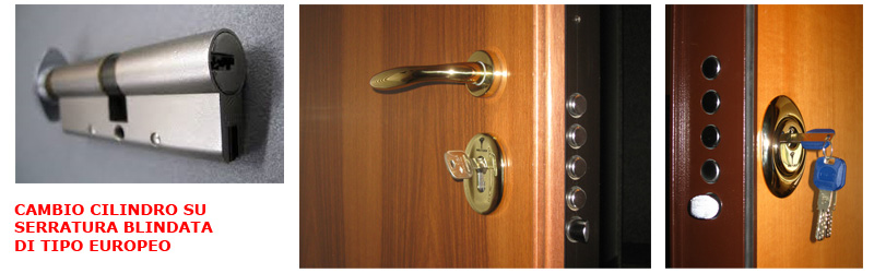 Cambiare la serratura della porta blindata serratura - Cilindro porta blindata ...