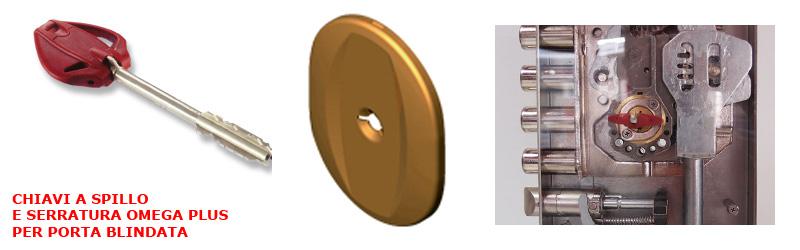 Chiave a spillo per serratura Omega Plus Mul-t-lock per porta blindata