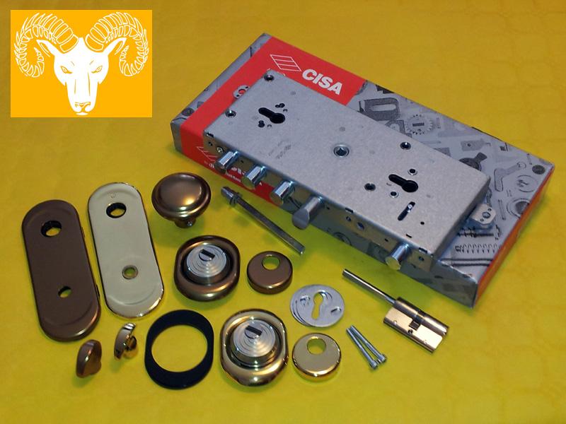 Serratura a cilindro europeo Cisa per porta blindata doppio cilindro