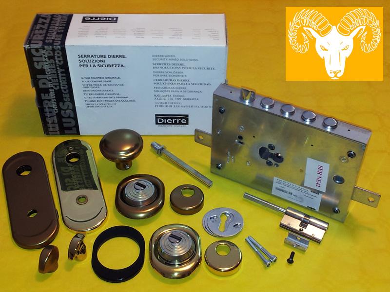 Serratura Dierre cilindro europeo kit di trasformazione