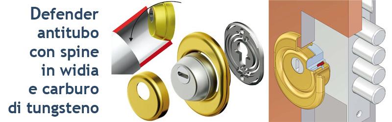 Defender anti tubo innocenti serrature antiscasso for Serratura europea prezzi