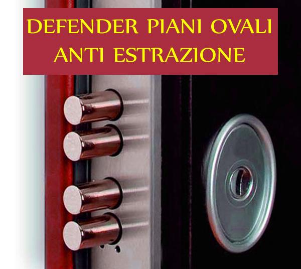 Defender anti tubo antiscasso piani ovali serratura for Serratura europea prezzi