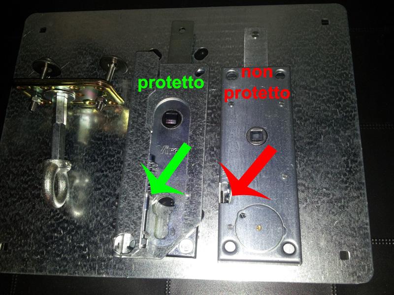 Dispostitivi sicurezza serrature basculanti garage for Serrature sicure
