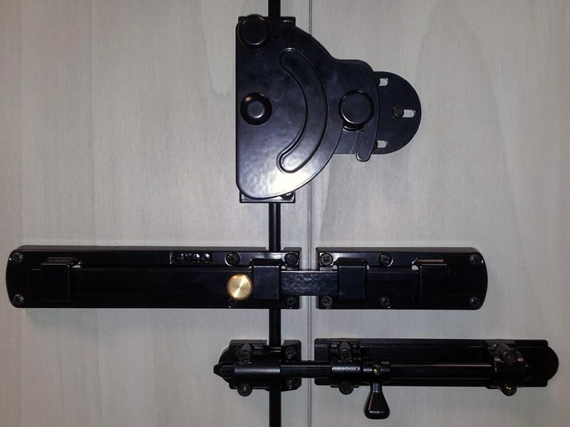 Catenacci di sicurezza per scuri serratura europea - Sbarra di sicurezza per porte ...