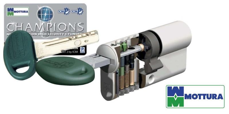 Cilindri champions mottura serratura europea casa sicura for Cilindro europeo prezzi