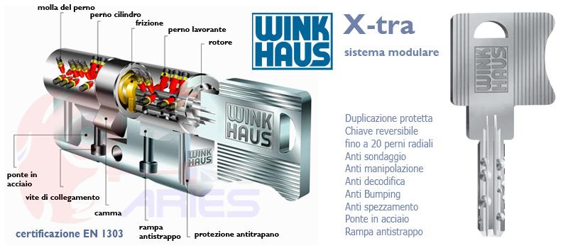 Cilindro wink haus x tra scheda tecnica serratura europea for Torterolo porte blindate scheda tecnica