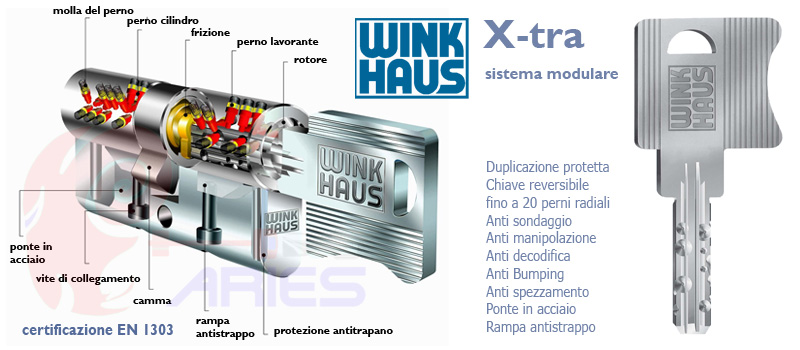 Cilindro europeo migliore wink haus x tra massima for Cilindro europeo migliore