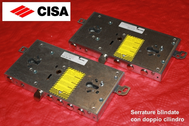 Serrature cisa porte blindate doppio cilindro europeo for Serratura cilindro europeo cisa prezzi